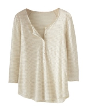 Kate Top In Metallic Stripe