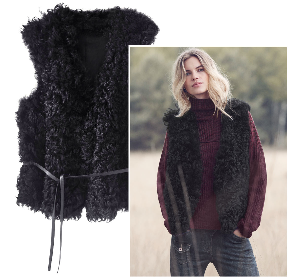 Camille Shearling Gilet