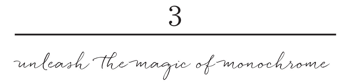 3. unleash the magic of monochrome